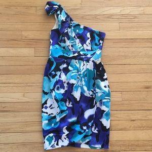 Pre loved 🌺 bisou-bisou middie one shoulder dress